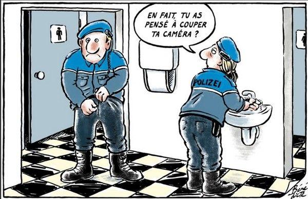 Un peu d'humour sur des flics suisses